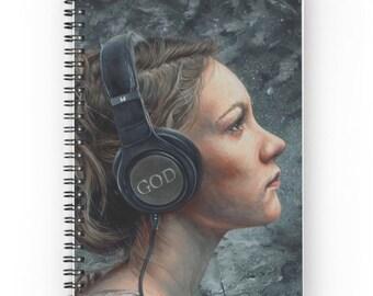 Listen 4 Spiral Notebook