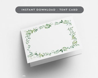 Printable Wedding Place Cards (Tent Card Version) - Blank Wedding Escort Cards - Table Setting Card - Letter & A4 Size (Item code: P830)