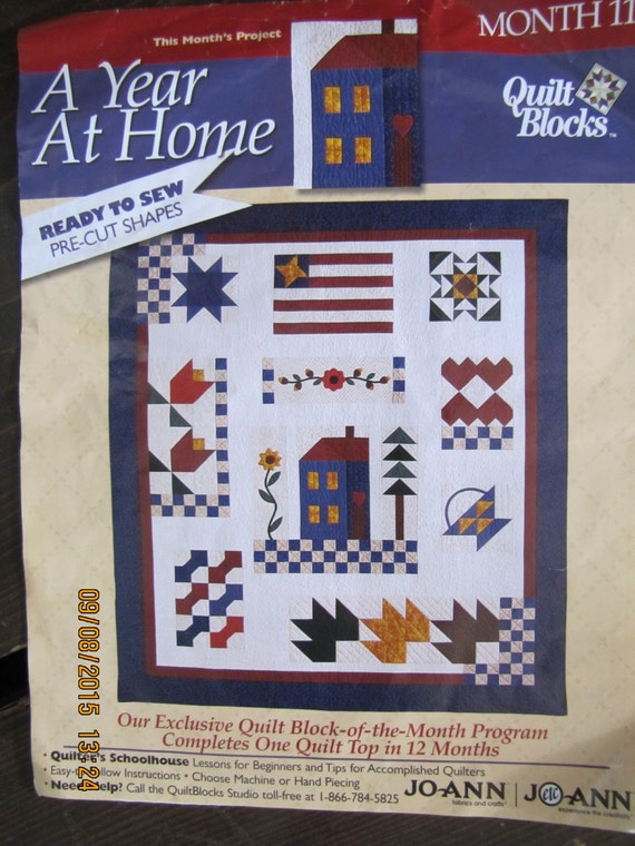 4 Quilt Block Kits A Year At Home By Joann 2002