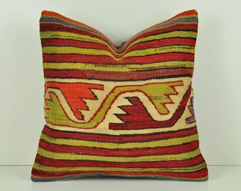 Decorative Pillows, Kilim Pillow Cover, eskp13-02, Kilim Pillow, Kilim, Moroccan Pillow, Turkish Kilim, Bohemian Pillow, Turkish Pillow