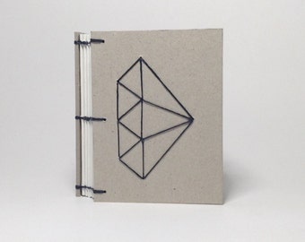 Mini Navy Diamond Journal