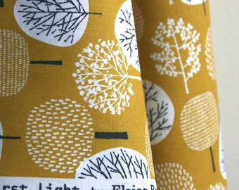 ORGANIC Forest Fabric in Citron from First Light Collection by Eloise Renouf for Cloud 9 Fabrics - One HALF YARD Cut
