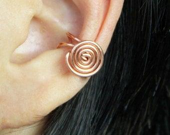 5.99-9.99 dollars Simple Copper scroll ear cuff handmade US free shipping Anni Designs