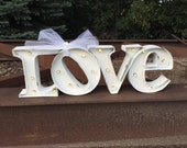FLASH SALE!!!  Two days only Marquee Love Sign /  lighted marquee sign / LOVE sign /  Rustic Wedding Sign / marquee letter