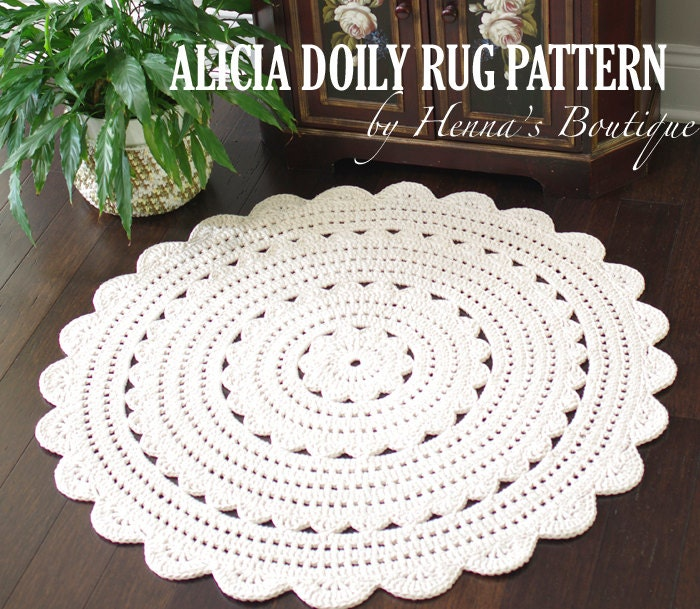 Crochet Doily Rug Pattern Pack Three Doily Rugs By