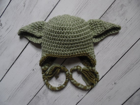 Crochet Yoda Hat : Yoda Hat Crochet Yoda Hat Baby Boy Hat Made to Order by LovelyJC
