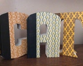 Hand Cut Book Letters