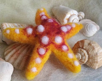 Needle Felted Starfish, Whitespot Starfish, Handmade, Sea Creatures, Needle Felted Animals