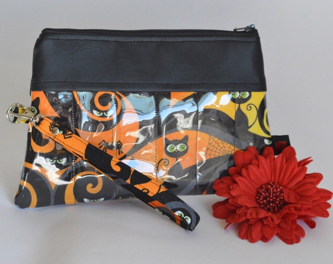 Black Cats & Haunted House Wristlet