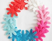 Felt flower, set of 18 pieces, Die Cut Shapes, Applique, Confetti, Party Supply, DIY Wedding