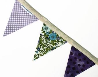 Violetta - Handmade Mini Bunting by palicearker