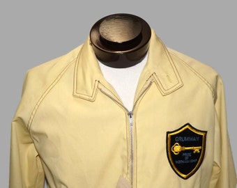 Grumman Employee Jacket NWT Grumman Pride of Workmanship Patch Pale Yellow Aerospace and Flight Size L 60s 70s