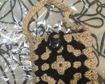 Crocheted Granny Square Purse #133