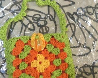 Crocheted Granny Square Purse #147