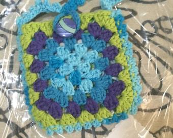 Crocheted Granny Square Purse #149