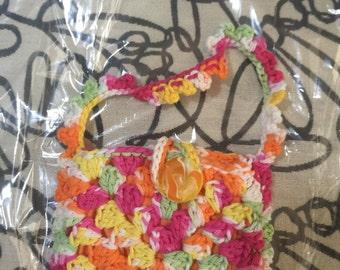Crocheted Granny Square Purse #148