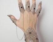 Gothic wrist cuff and ring set