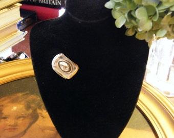 Vintage Sterling Silver Miniature Cowboy Hat Brooch Mexico