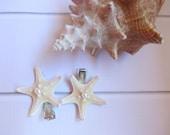 Starfish Hair Clips - Beach Wedding Hair - Small Starfish Hair Clips - Pearl Starfish Hair clips- Mermaid Hair - 2 clips