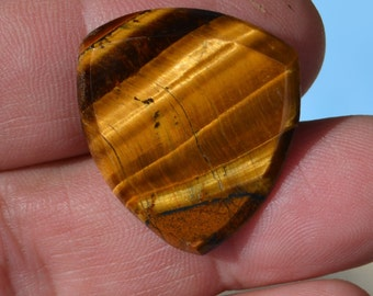 Tiger Eye Guitar Pick-  Hand made plectrum TE46