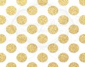 4ft x 4ft Vinyl Photography Backdrop / Gold Glitter Polka Dots / Custom Photo Prop