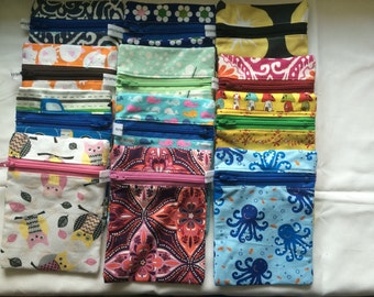 Small Zippered Pouch In Stock, Ready to Ship