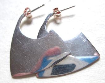 Sterling Silver Mod Earrings