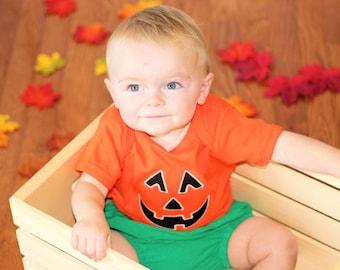 Baby Pumpkin Costume- Boy Pumpkin shirt- Girl Pumpkin Shirt- 1st Halloween shirt- 1st Halloween tutu- Baby Pumpkin- Pumpkin tutu- Pumpkin