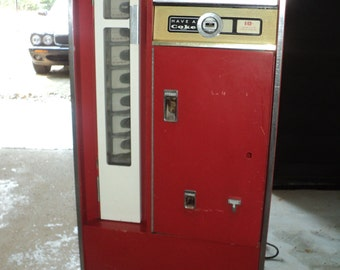 Vintage COKE MACHINE  for Ten Cent Bottles of Coke in Original Condition, Great for keeping small six ounce bottles of liquids cold