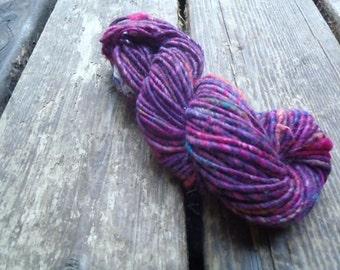 Handspun Art Yarn 37.5 yards, 1.3 oz Three Bears Fuzz- Hot summer nights