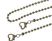 Bronze Purse Chain - Antique Bronze - Shoulder Cross Body Strap Handle - 46 inches - 1pc - Ships IMMEDIATELY from California - A448