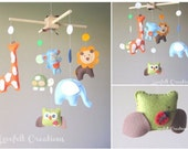 Baby Monile - Forest Mobile - Jungle Mobile - owl mobile - fox mobile - forest friends - safari mobile