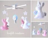Baby Crib Mobile - Baby Mobile - Bunny Mobile -