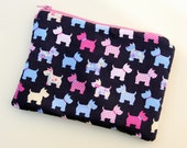 Pink Scottie Dogs Cosmetics / Make up Bag