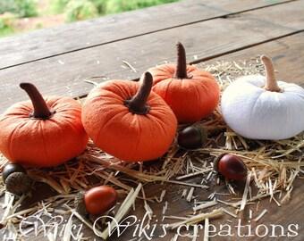 Small Plush Felt Pumpkins