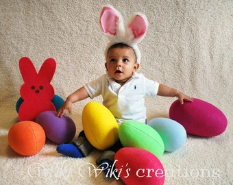 Extra Large Plush Felt Easter Eggs- Pick your color