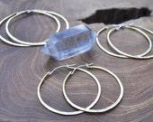 Baby Girl Hoops // Baby Boo 2.25'' // Classic Big Hoop Earrings in Brass & Sterling Silver