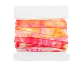PRINTED 5/8th inch elastic - 5 yards - Pink and Yellow Tie Dyed Elastic
