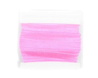 Fold Over Elastic - 1 inch - 5 yards Pink