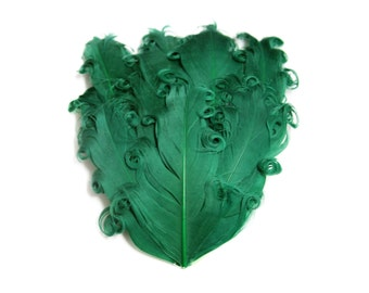 Christmas Nagorie Feather Pad - Set of 2 - Emerald Green