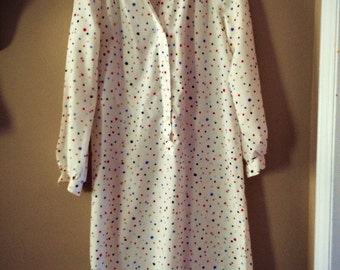Vintage polka dot shirt dress size Ladies medium
