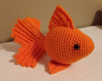Goldfish-Crochet Amigurumi Stuffed Animal Plush- Orange