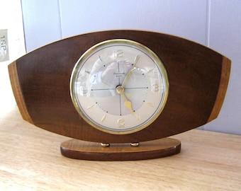 Timemaster Clock - Vintage Clock - Mantel Shelf Clock - Recycled 1970's Clock