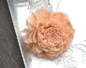 Set of 6 Stemmed OR Unstemmed Peach Sola Flowers Bellini Peachy Pink Set of 6 Sola Zinnia DIY Bride