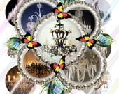 "Chandeliers 1"" Bottle Cap Image 4x6 Digital Collage Sheet Instant Download"