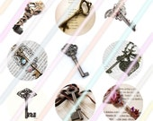 "Keys 1"" Bottle Cap Image 4x6 Digital Collage Sheet Instant Download"