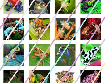 Frogs Scrabble Tile Images 4x6 Digital Collage Sheet Instant Download