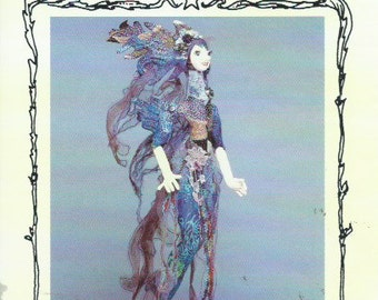 """Cloth Doll Pattern by Magic Threads """"Smoke"""" Makes a 26"""" Doll (2001) Complete and Uncut"""