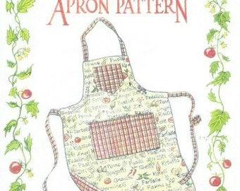 The Paisley Pincushion Reversible Apron Pattern (1990s)