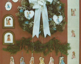"""Two Cross Stitch Patterns """"Festival of Angels Part I & II"""" (1986)"""